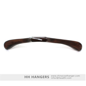 "18"" Luxury Bigger Shoulder Walnut Wooden Clothes Hangers for Jeans pictures & photos"