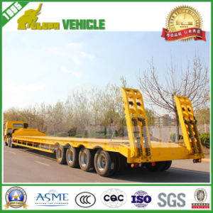 80t 3-4 Axles German Suspension Low Loader Trailer pictures & photos