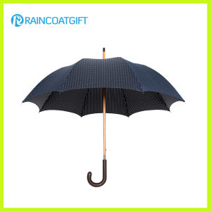 Black 190t Pongee Wooden Umbrella for Outdoor Use pictures & photos