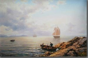 Oil Painting Craft of Sailing Ship pictures & photos