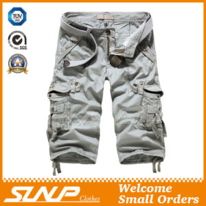 2016 Men′s Summer Khaki Cargo Shorts Clothes with Side Pockets