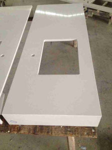 KF-022 Ice White Quartz Stone for Laminated Tops pictures & photos
