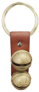 Sleigh Bell with Leather Strap Handing on The Door Db2-H040sr