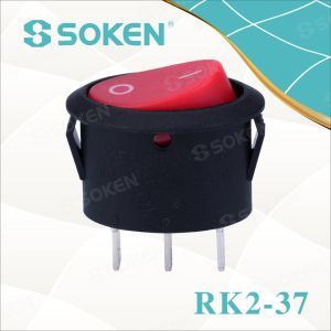Oval Rocker Switch Rk2-37A pictures & photos