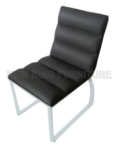 Modern Comfortable Steel Foot PU Leather Dining Chair (NK-DC091)