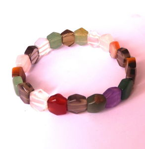 Semi Precious Stone Multi Color Diamond Shape Bracelet pictures & photos