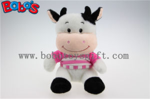 High Quanlity Plush Cow Toy with Baby Smile Face and Pink T-Shirt pictures & photos