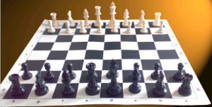 Plastic Chess with PVC Chess Board, Chess Game Set