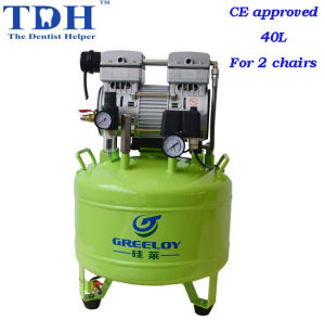 CE Certicated Noiseless 40L Dental Air Compressor (TDH-81) pictures & photos
