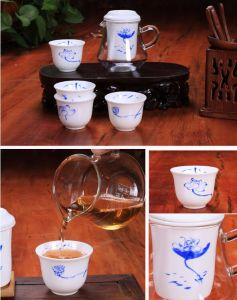 Kungfu Shell Porcelain Tea Set Tea Cup pictures & photos