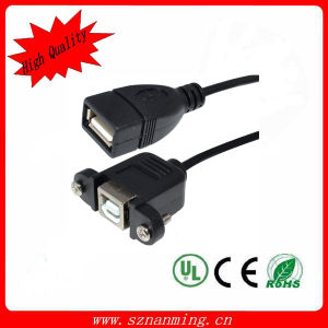 USB B Female Panel Mount to a Female USB Cable with High Quality (NM-USB-1355) pictures & photos