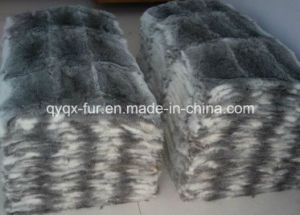 Top Quality 100% Real Rabbit Fur Blanket pictures & photos