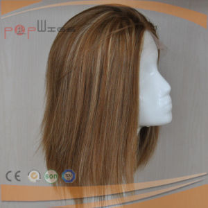 Medical Handtied Lace Certified Silk Top Lace Front Wig pictures & photos