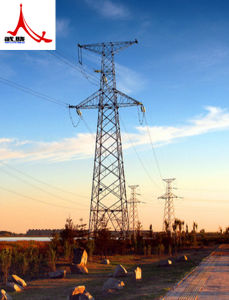 Galvanized Tubular Transmission Tower (Tubular and Angle Tower) pictures & photos