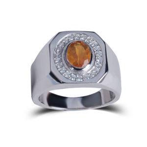 2014 New Personalized Jewelry to Wear Orange Popular Natural Stone Rings pictures & photos