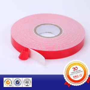 White Foam Manufacture High Adhesion Double Side Foam Tape pictures & photos