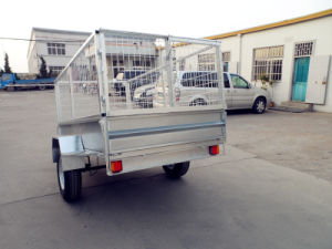 6X4 Single Axle Box Trailer with Cage (BT-64) pictures & photos