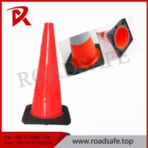 90cm PVC Traffic Road Cone with Black Base pictures & photos