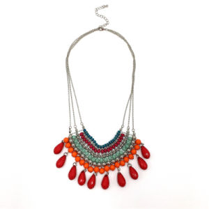 Fashion Necklace with Colorful Beads