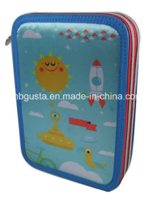 Pencil Case with Stationery Filling-2 Zippers (PD-14QJ11)
