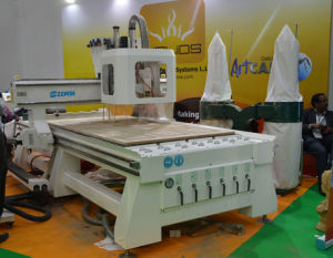 CNC Router with Boring Units (7+2+2, vertical drilling bit-7PCS, slider cutter-2PCS, saw-2PCS) , Xe1325/1530/2030 pictures & photos