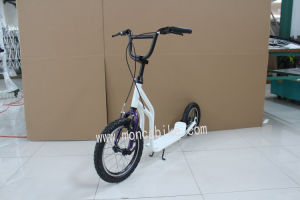 White Color E Scooter Foot E-Scooter Popular Electric Bike Bicycle Kids 12′′ Tyres Kenda Shimano pictures & photos