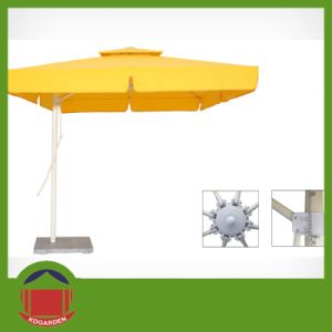 High Quality Commercial Double Canopy Outdoor Umbrella Parasol pictures & photos