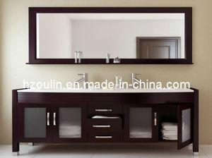 Double Basin Solid Wood Bathroom Vanity (BA-1121) pictures & photos