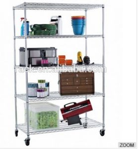 HD Commercial Kitchen Wire Shelf Rack with Casters pictures & photos
