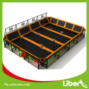 Liben Custom Made Indoor Trampoline Court with Basketball Set pictures & photos