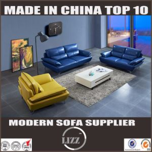 Lizz Chinese Style Sectional Sofa Real Leather Sofa pictures & photos