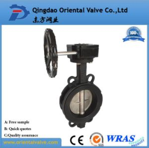 Carbon Steel Wafer Type Linear Pneumatic Butterfly Valve pictures & photos