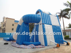 Double Lane Inflatable Wet/Dry Slide pictures & photos