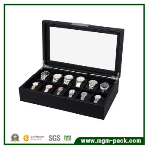 2017 High Quality Vintage Wood Watch Box with Pillows pictures & photos