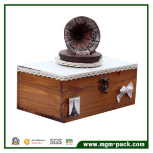 Creative Design Vitangle Gramophone Wooden Music Box pictures & photos