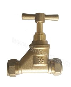 Brass Male Ferrule Equal Stop Valve with Butterfly Handle pictures & photos