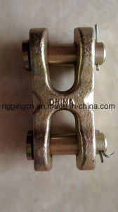 H Type Double Clevis Link with Pin for Chain Link in Yellow Zinc Plated pictures & photos