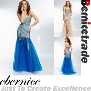2014 New Mermaid Beaded Evening Dress Wear