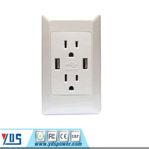 American Us Canada USB Wall Socket 2 Gang Electrical Outlet pictures & photos