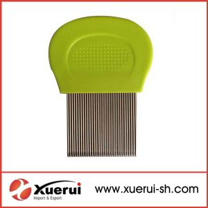 Hair Cleaning Lice Comb with Plastic Handle pictures & photos