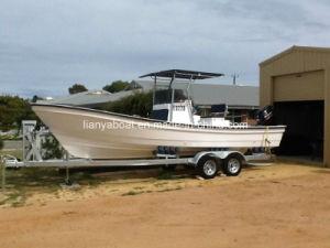 Liya 7.6m Cheap Fishing Boats Fiberglass Panga Boat for Sale pictures & photos