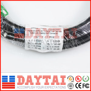 4 Core Fiber Optical Sc APC Upc Waterproof Connector Pigtail Cable pictures & photos