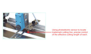 New Style Automatic Belt Cutting Machine Trademark Cutting Machine pictures & photos