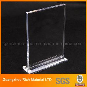 Desktop Acrylic Menu Display Stand/Plastic PMMA Menu Display pictures & photos