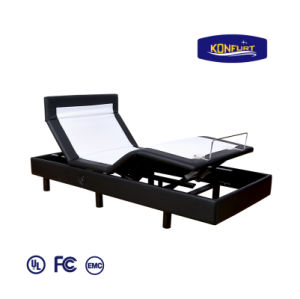 Three Motors Electric Bed Adjusatble Bed Head, Lumbar & Foot up Down with Bed Skirt pictures & photos