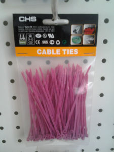 Pink Cable Ties Packed in Poly Bag of 100 Piece pictures & photos