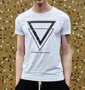 Factory Best Sale White Short Sleeves Printing T Shirt pictures & photos