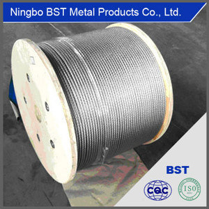 High Quality Stainless Steel Wire Rope (7*19-6mm) pictures & photos