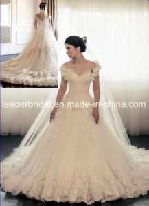 Lace Wedding Dress off Shoulder Tulle Bridal Ball Gown W15252 pictures & photos