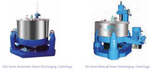 Scraper Down Discharging Centrifuge